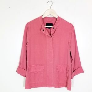 Sanctuary Lyocell Dusty Rose Roll Tab Jacket